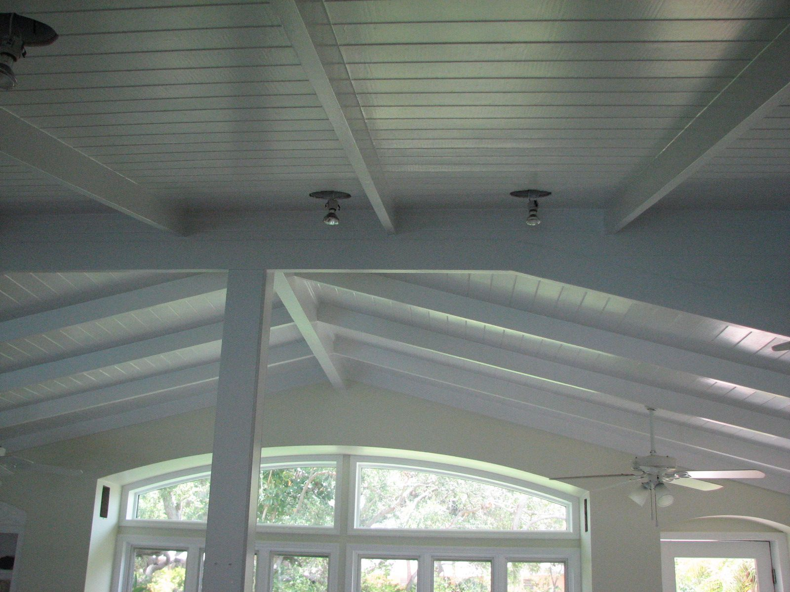 image of white tongue and groove ceiling planks