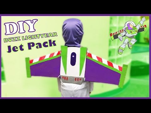 DIY Buzz Lightyear Jetpack - Easy and FREE Toy Story Costume Idea and Ho...