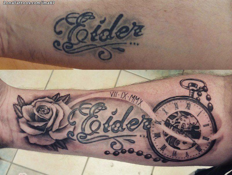 Tatuaje De Relojes Rosas Flores Zonatattoos Com Tatuajes De Relojes Tatuajes De Nombres En El Brazo Tatuajes De Mami