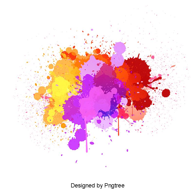 Beautiful Colorful Splash Creative Decorative Buckle Free
