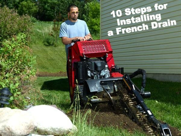 How To Install a French Drain (10 Steps) #DIY #Landcape # ...