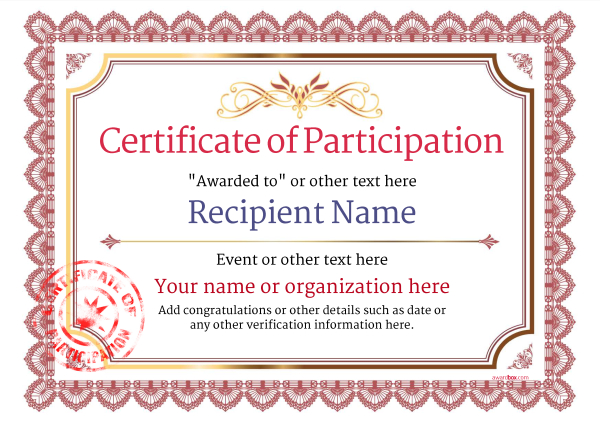 Certificate Of Participation Template Doc 4 Templates Free Printable Certificate Templates Certificate Of Participation Template Free Certificate Templates