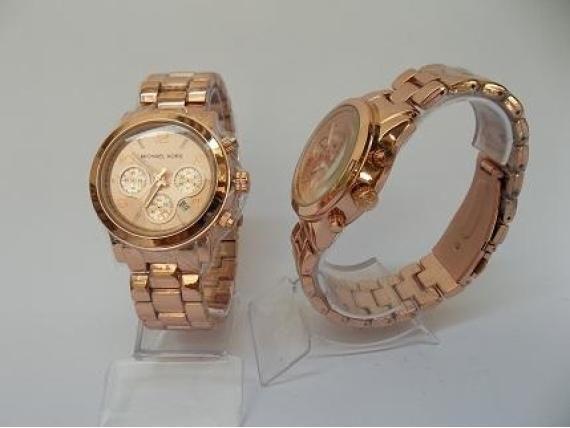 Relógio Michael Kors - Réplica Goldê Rosê - R 98.00   Bolsas e ... ae322eb8a7