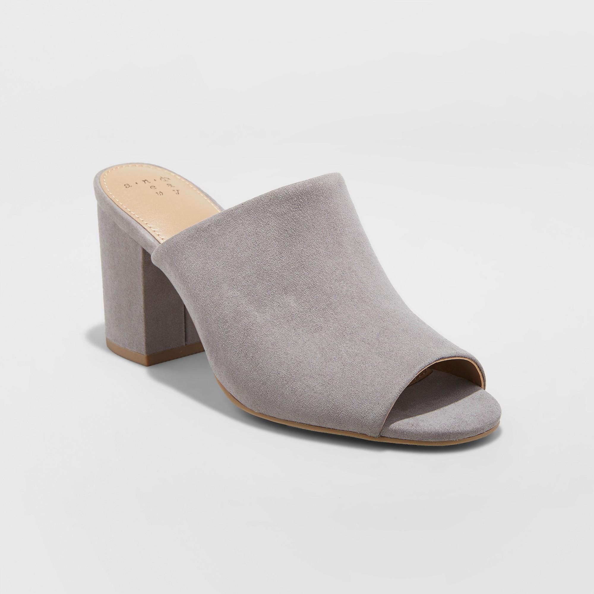Didi Wide Width Block Heel Mules