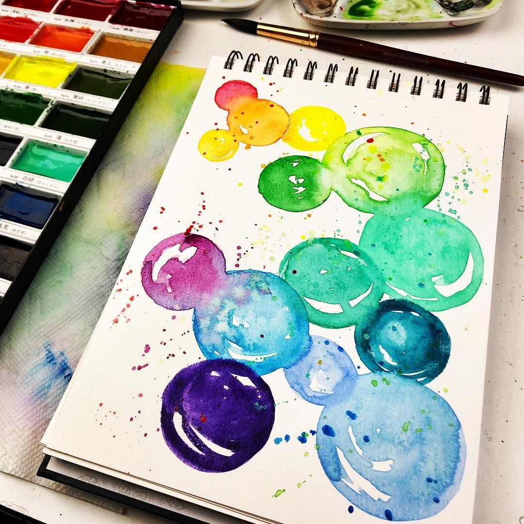 See How To Do This Easy Watercolor Bubble Painting Yourself Https