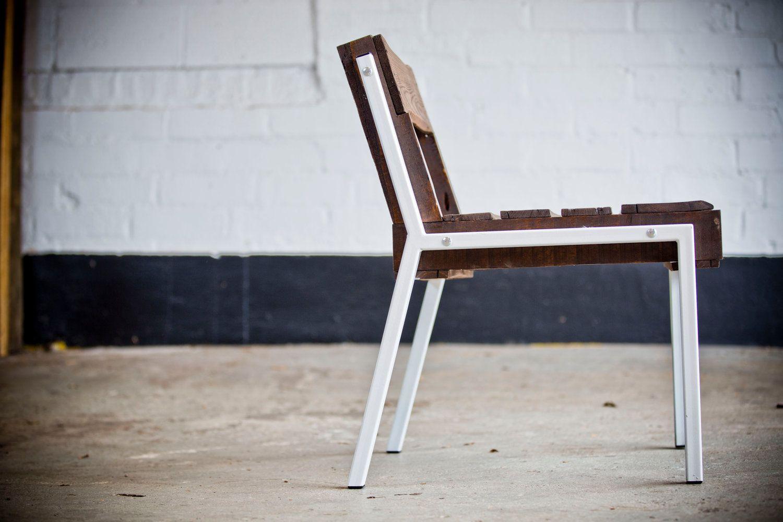 Open Back Pallet Chair - Steel Legs.