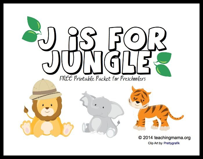 J Is For Jungle Letter J Printables Preschool Letters Alphabet Preschool Preschool Letter Crafts