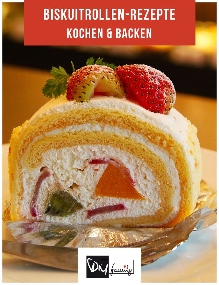 Biskuitrolle selber machen - 8 tolle Rezepte  #cake, #tasty, #yummy, #diy, #handmade, #selfmade, #homemade