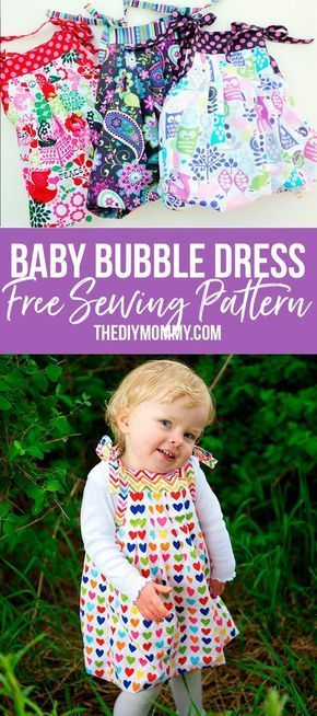 Free Sewing Pattern This Baby Bubble Dress Grows With Your Child