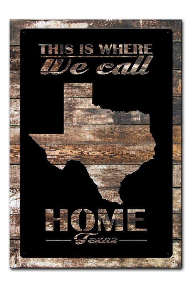 Texas Home 26 X 18 Metal Cutout Sign On Barn Wood Vintage Retro Style Patriotic Wall Decor Art Free Shipping Ptsw012 By Homedecorgarageart Etsy