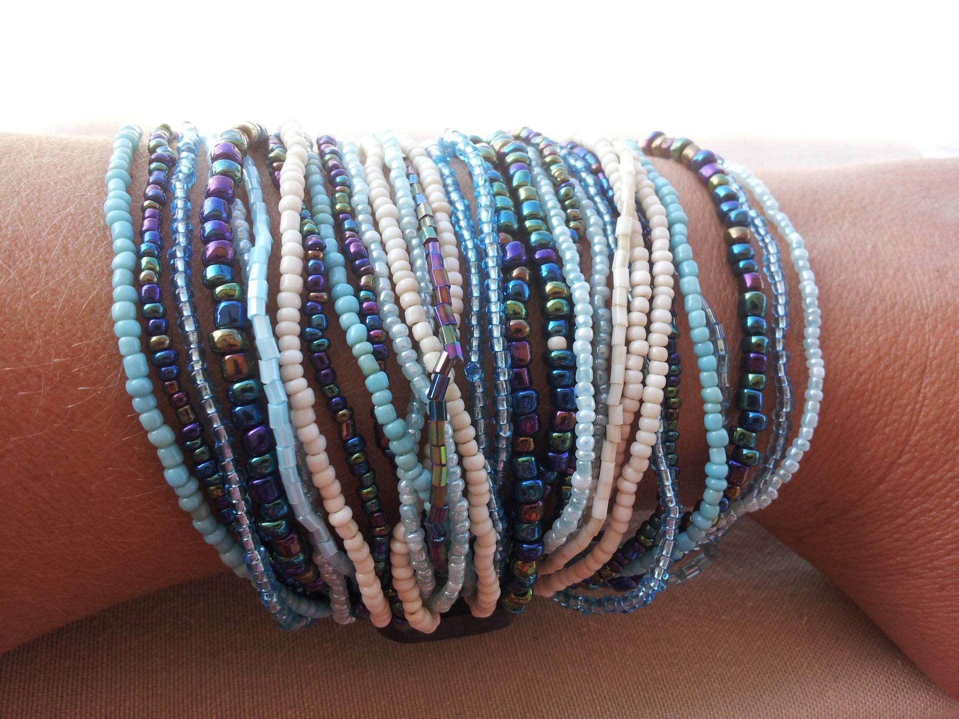 perle de rocaille bleu