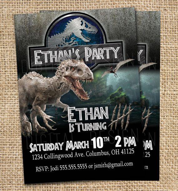 Jurassic World Invitation Jurassic World by DHDigitalDesign