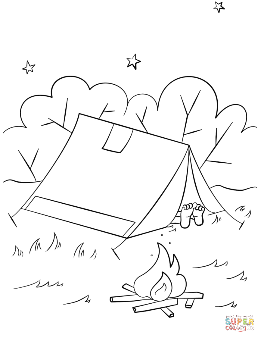 Camping Scene Coloring Page Free Printable Coloring Pages Camping Coloring Pages Coloring Pages Free Printable Coloring Pages