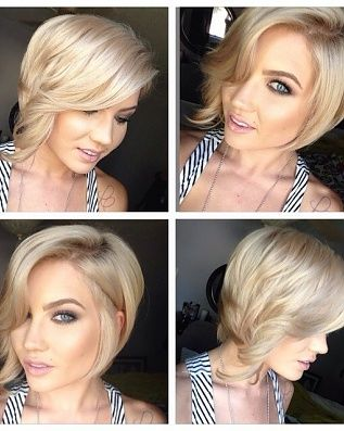 Summer Hair Looks: 2014 Short Hairstyles Trends Blonde Short Bob With  Casual Waves. If I Ever Did Cut My Hair Short.