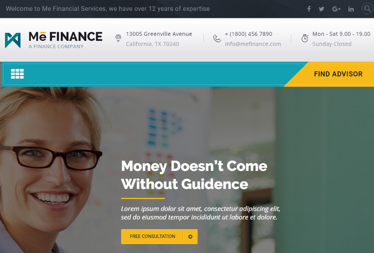 Top 5 Finance, Insurance Agency, Accounting HTML5