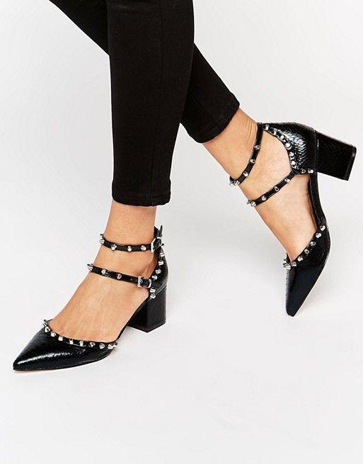 d8e0d242 Tacones con punta y tachuelas SLOW DOWN de | FW16 Shoes | Zapatos ...