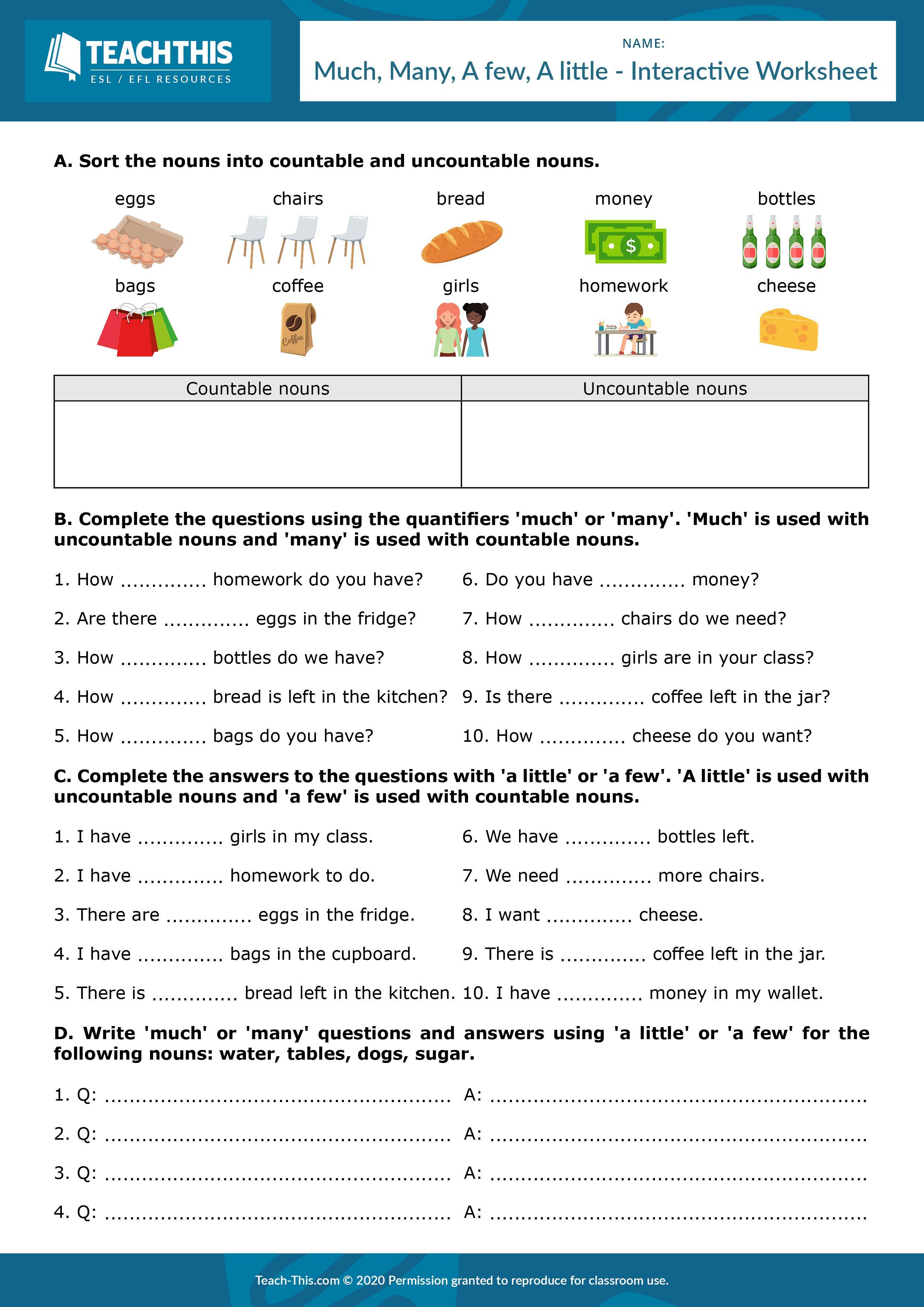 Quantifiers English Grammar Exercises English Worksheets For Kids Elementary Worksheets [ 3508 x 2480 Pixel ]