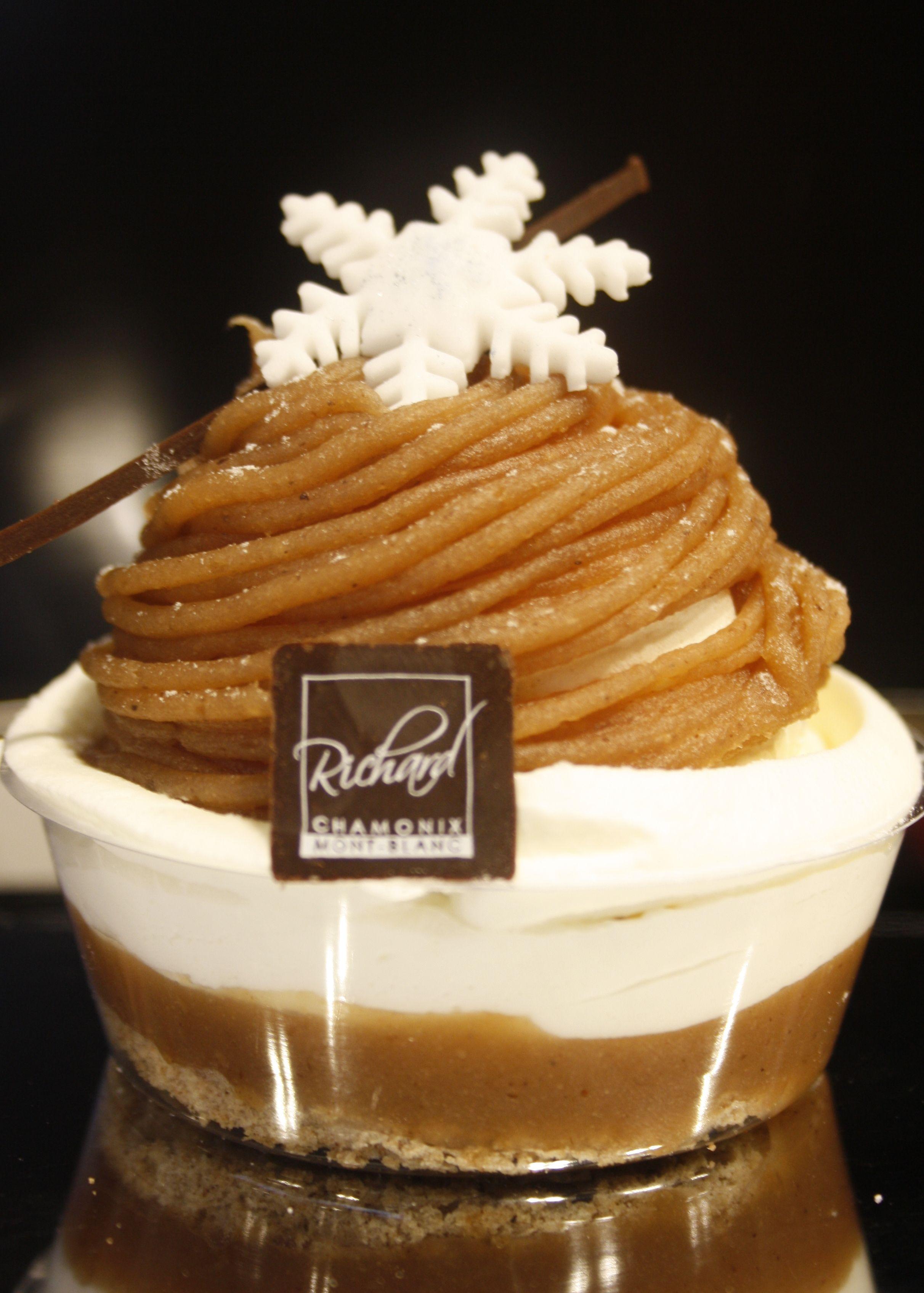 Le Mont,Blanc Crème de marrons, Chantilly, Meringue et biscuit à la  châtaigne
