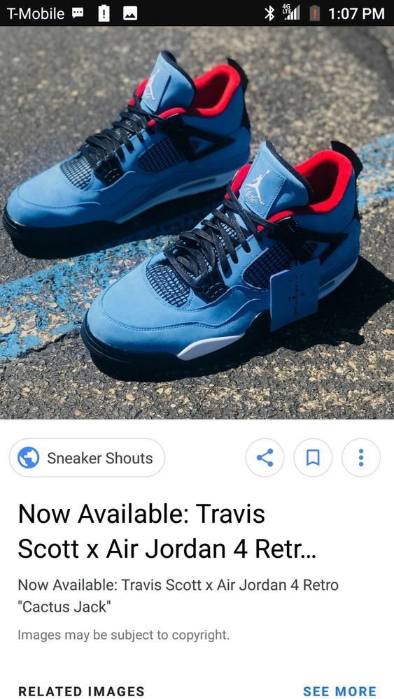 super popular fa641 da7b1 Air-Jordan-4-Retro-Travis-Scott-Cactus-Jack-NEW-SIZE-US-9.5  fashion   clothing  shoes  accessories  mensshoes  athleticshoes (ebay link)