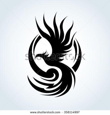 phoenix logo eagle logo vector logo template stencil pinterest