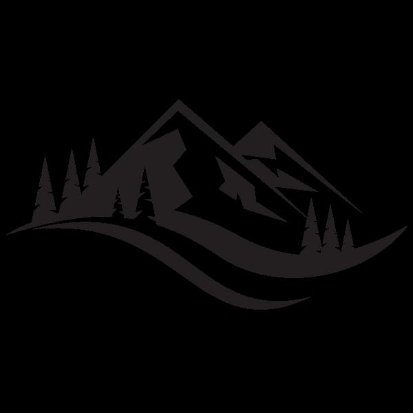 Mountain Landscape Silhouette Landscape Silhouette Outdoor Logos Logo Silhouette