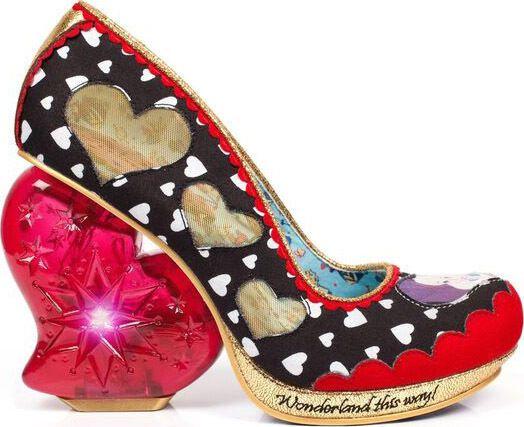 DISNEY IRREGULAR CHOICE Alice in Wonderland QUEEN OF HEATS