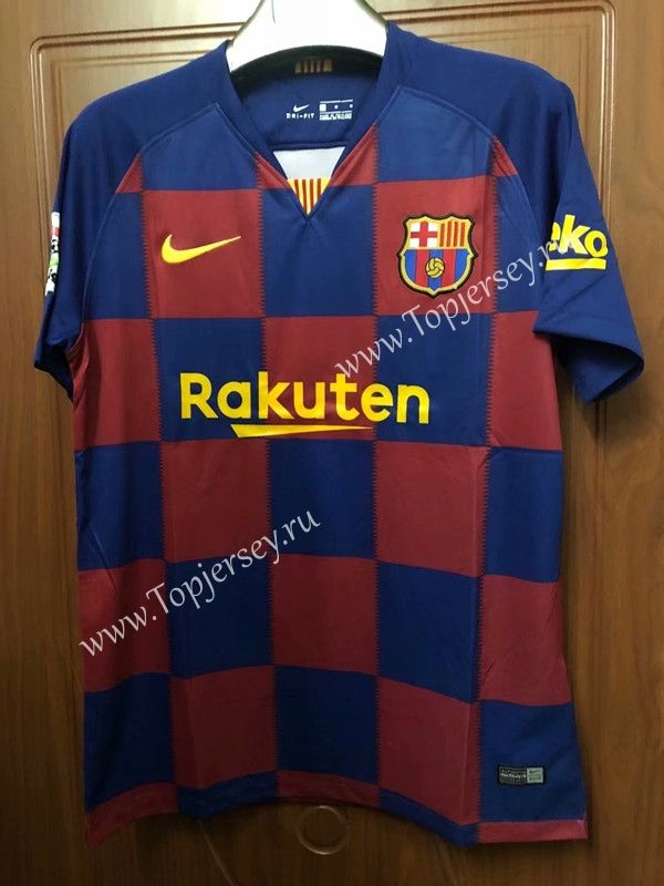 sports shoes da174 40355 2019-2020 Barcelona Home Red and Blue Thailand Soccer Jersey ...