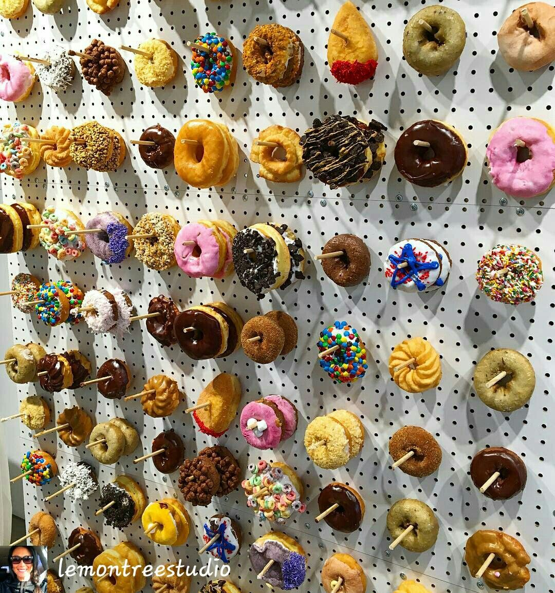 Donut Wall, For Your Guests! How Creative Is This