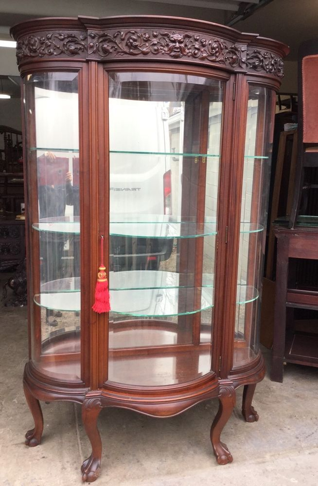 R.j. horner carved beveled glass china cabinet   China cabinets ...