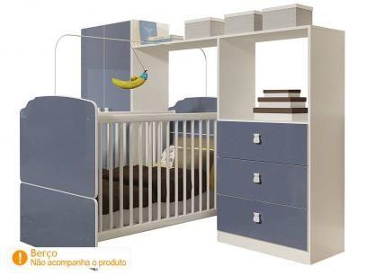 Kit Quarto Infantil Ninar - Completa Móveis com as melhores condições você encontra no Magazine Lojasromulo. Confira!