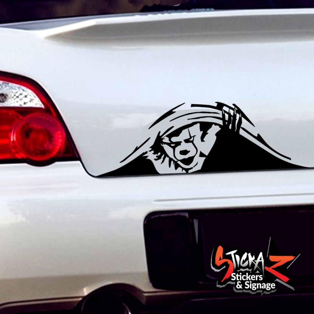 Pennywise it peeping decal sticker car