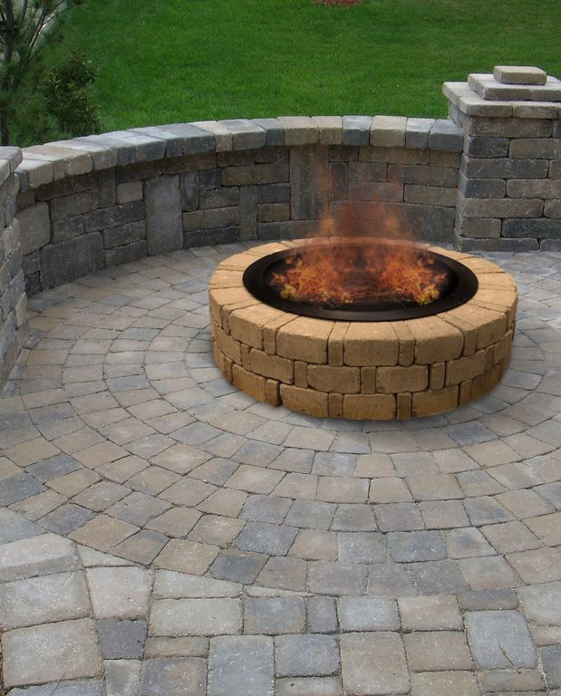 Landscape Patio Menards Patio Blocks For Cozy Your: Enjoy A Big Fire In Your Backyard With An Albany Fire Ring