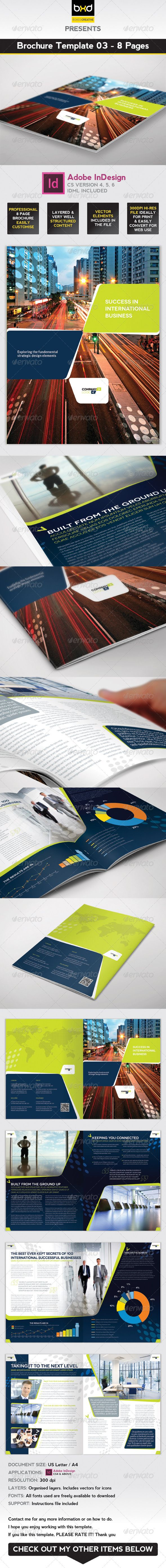 Brochure Template InDesign Page Layout Brochure Template - 8 page brochure template