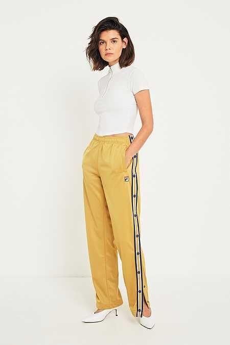 fila shorts womens gold