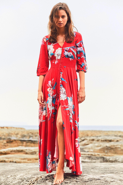 JAASE WOMEN/'S GEORGIE MAXI DRESS LIZA PRINT