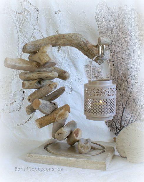 Boisflottecorsica des idées déco en bois flotté chantournage et fabrication de photophores en cire