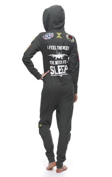 c34ee20d55 I Feel the Need for Sleep - Top Gun themed Onesie