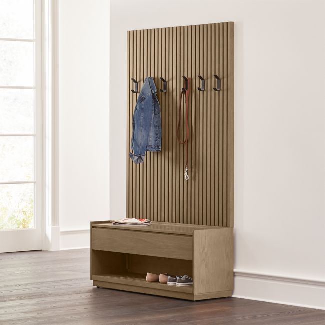 Batten Storage Bench and Panel Set + Reviews | Crate and Barrel