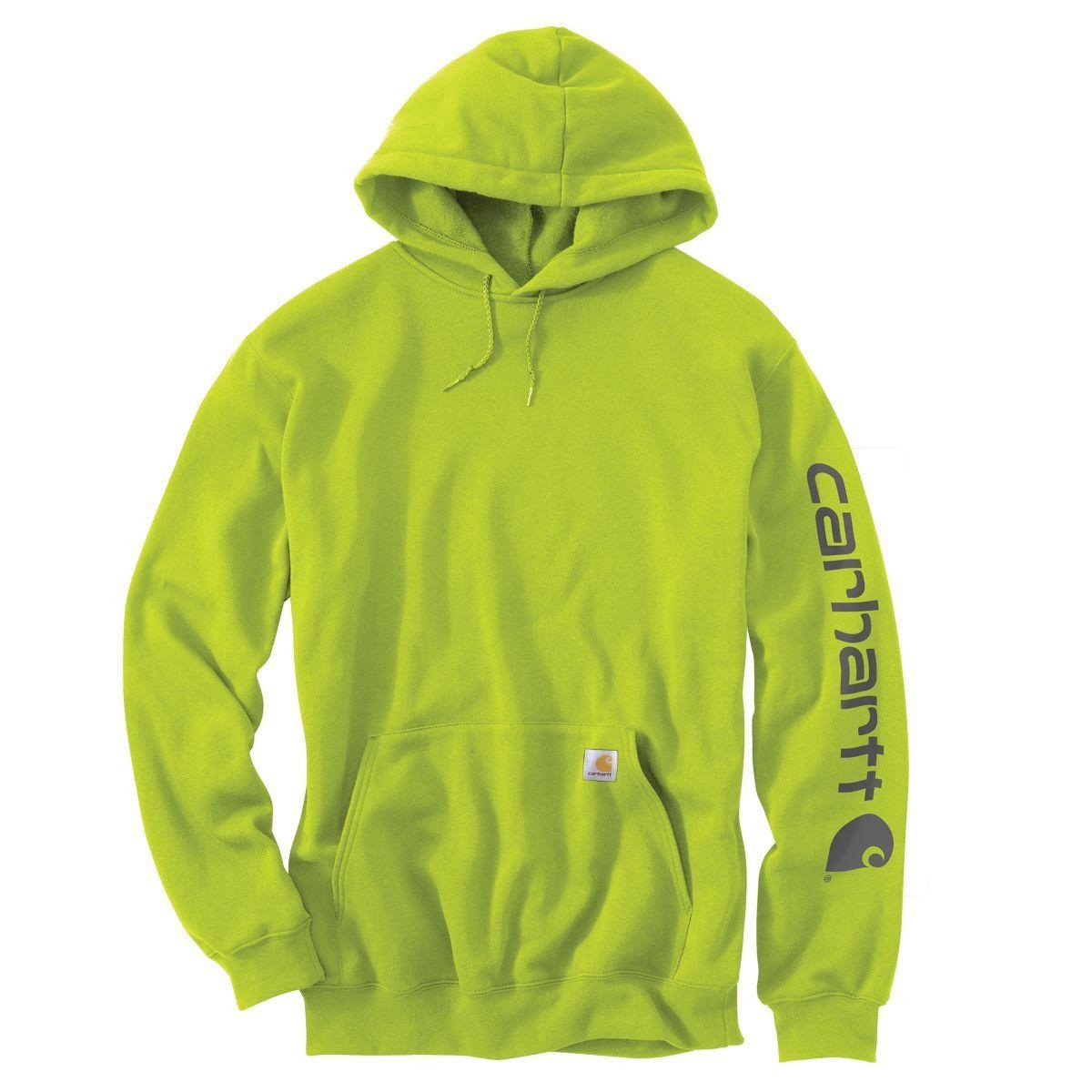 Carhartt Men S Sour Apple Midweight Signature Sleeve Logo Hooded Sweatshirt Carhartt Sweatshirts Sweatshirts Hooded Sweatshirts [ 1200 x 1200 Pixel ]
