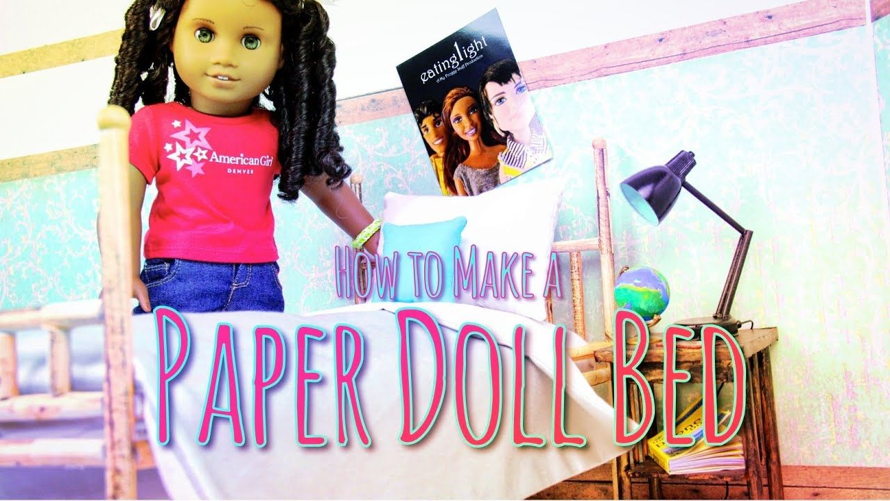 DIY | How to Make a Cardboard Bed for Doll | Made With Cardboard ... | 720x1280
