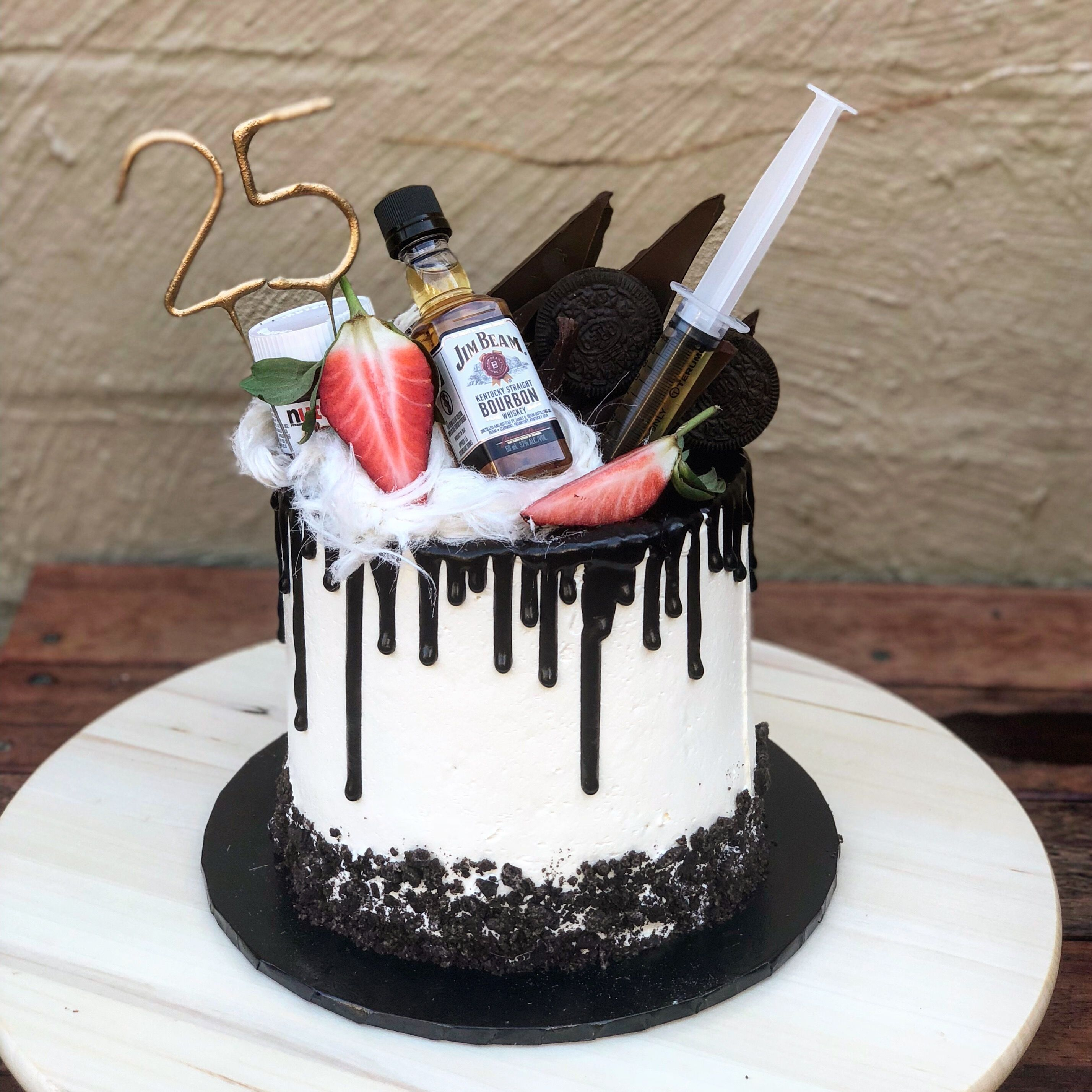 Drip Cake Chocolate Drip Persian Fairy Floss Jim Beam Syringe