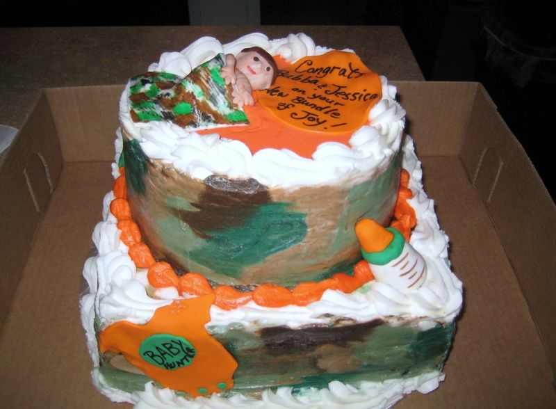 Camouflage Baby Shower Cakes   Camo baby Shower Cake ...