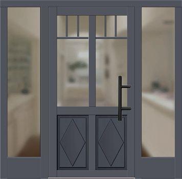 Haustüren mit seitenteil links  Holz Haustür Modell 2530 schiefergrau mit Seitenteil links und ...