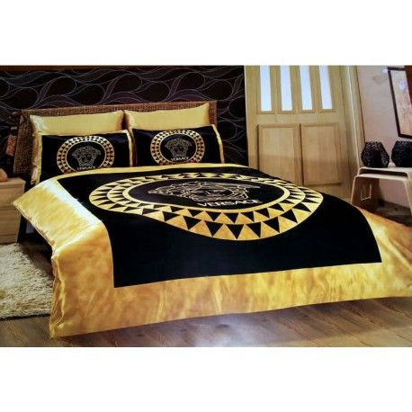 versace bedding g nstig billig gut preiswert king size satin seide bettw sche set 6 teilig. Black Bedroom Furniture Sets. Home Design Ideas