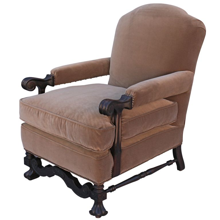 1920 S Furniture Dust Rose Overstuffed Chair Beautiful Lines