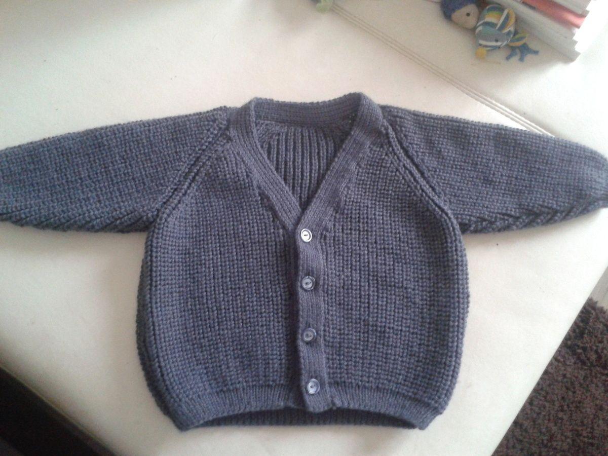 modele tricot gilet garcon 18 mois (avec images) | Modele tricot gratuit, Tricot gilet, Tricot ...