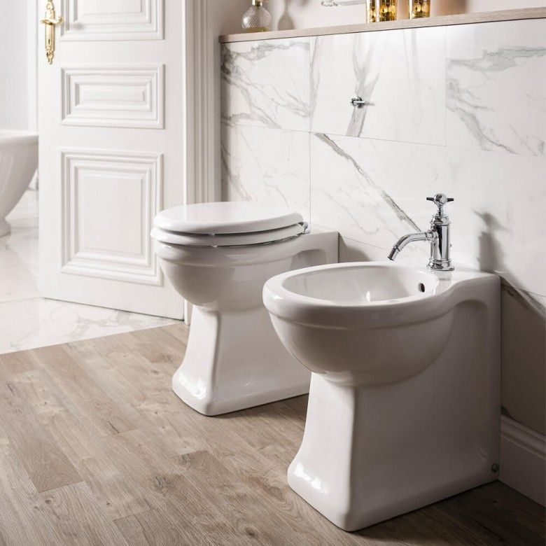 Arcade back to wall toilet soft close seat 520mm