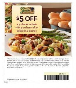 photograph regarding Olive Garden Printable Coupon identify Olive Yard Printable Coupon ~ $5 off 2 entree obtain