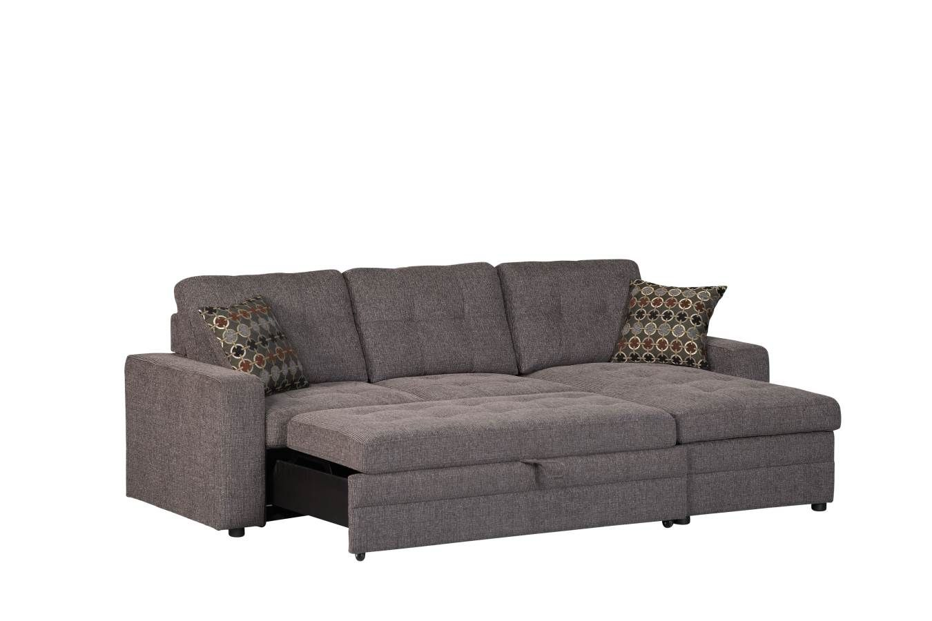Best Coaster Furniture Gus Charcoal Fabric Sectional 400 x 300