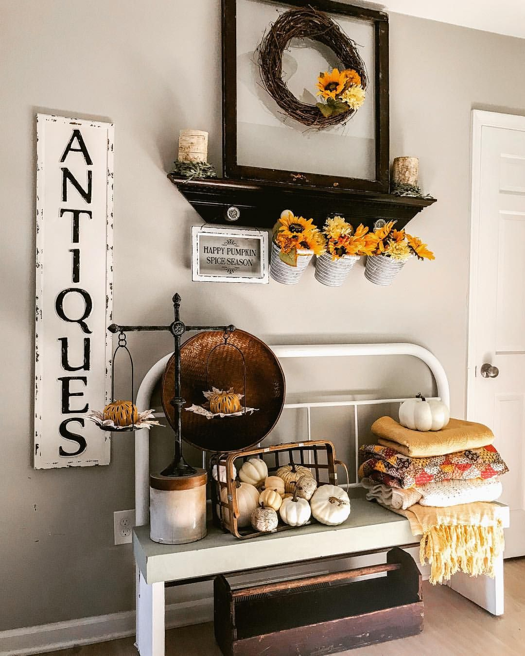 Farmhousehome Decorating Ideas: I Had To Add Some Happy Traditional Colors To Our Entrance